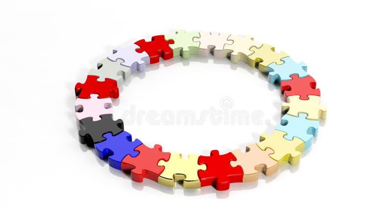 Kleurrijke puzzel stock illustratie