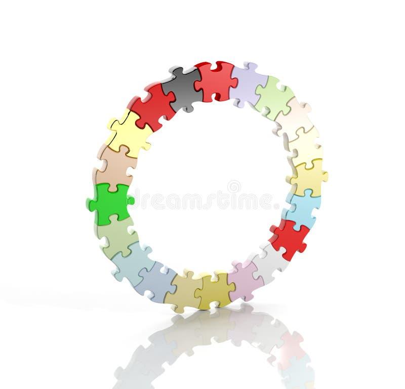Kleurrijke puzzelstukken vector illustratie