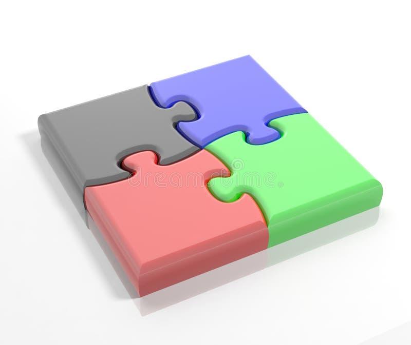 Kleurrijke puzzelstukken stock illustratie