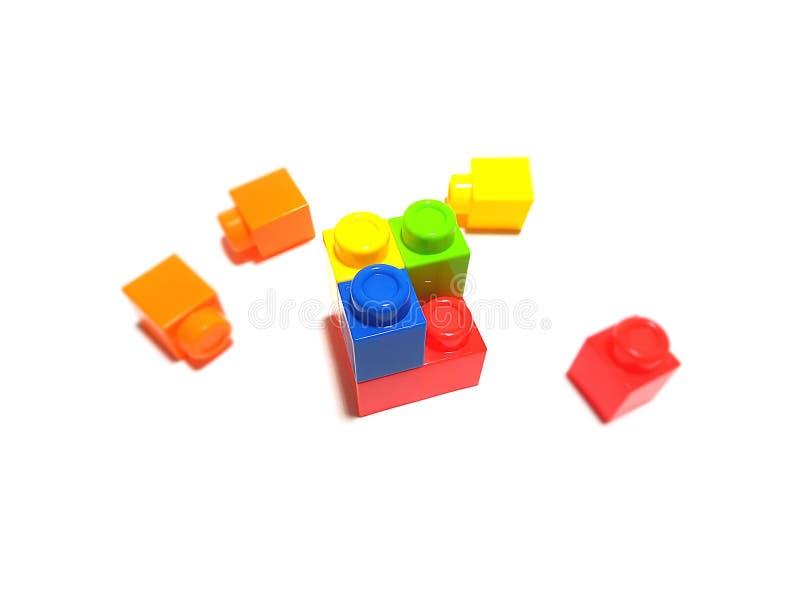 Kleurrijke raadselkubus stock illustratie