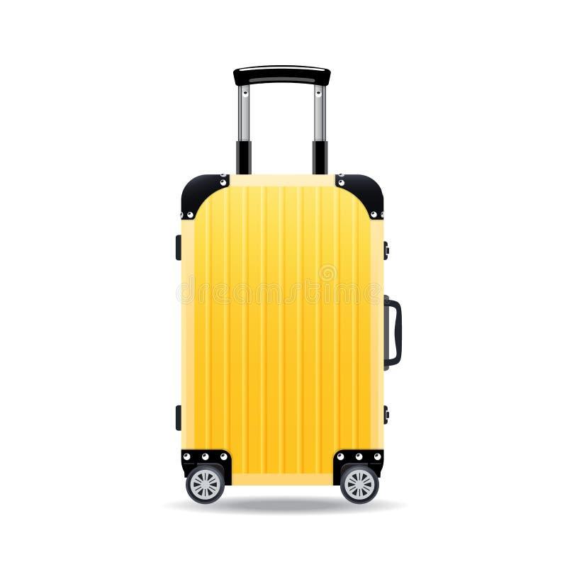 Kleurrijke realistische reiskoffers, gevallen, zakken voor bagage, op wielen royalty-vrije illustratie