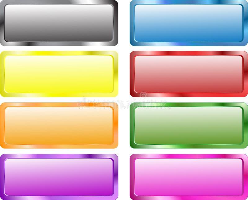 Kleurrijke rechthoekbanners royalty-vrije illustratie