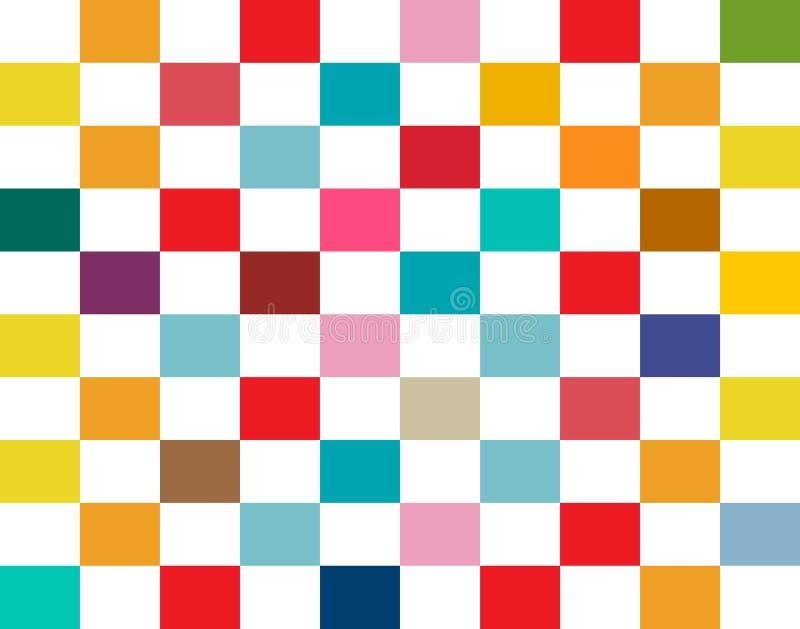 Kleurrijke Rechthoeken Naadloze Retro Vlakke Achtergrond vector illustratie