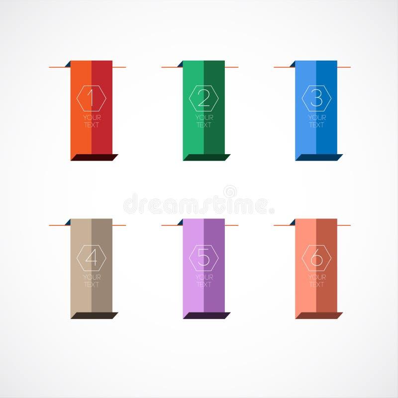 Kleurrijke referentie stock illustratie