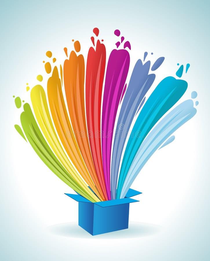 Kleurrijke regenbooglichten. vector illustratie