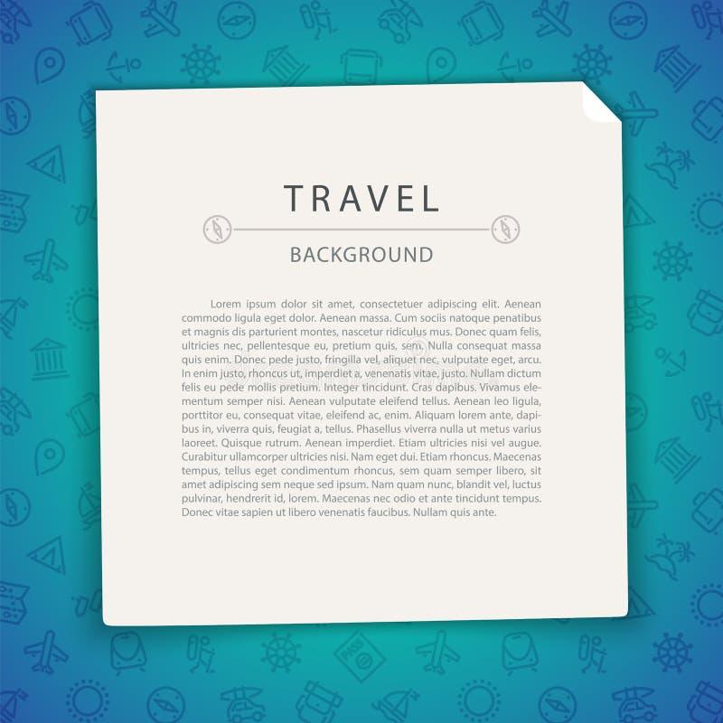 Kleurrijke Reisachtergrond met Exemplaarruimte royalty-vrije illustratie
