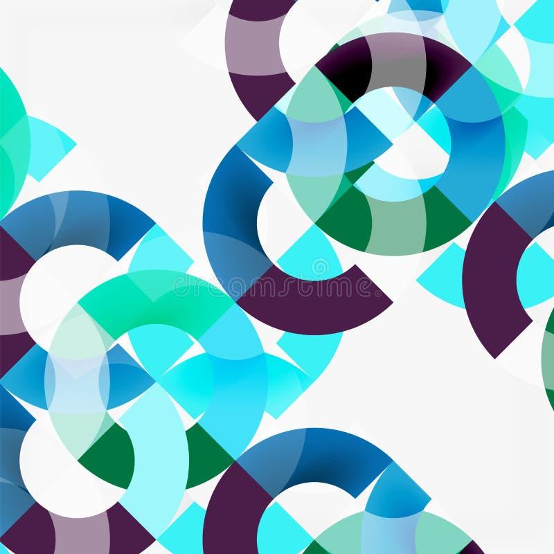 Kleurrijke ringen op grijze achtergrond, modern geometrisch patroonontwerp vector illustratie