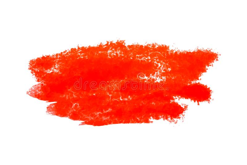 Kleurrijke rode waterverfvlek met aquarelle verfvlek royalty-vrije illustratie
