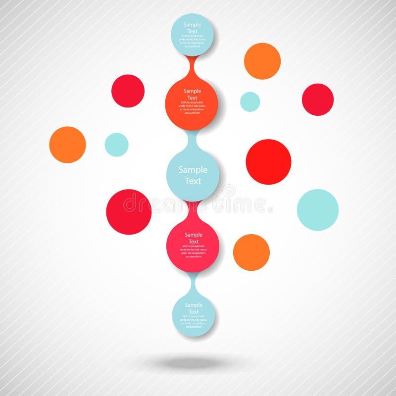 Kleurrijke ronde diagram metaball infographics stock illustratie