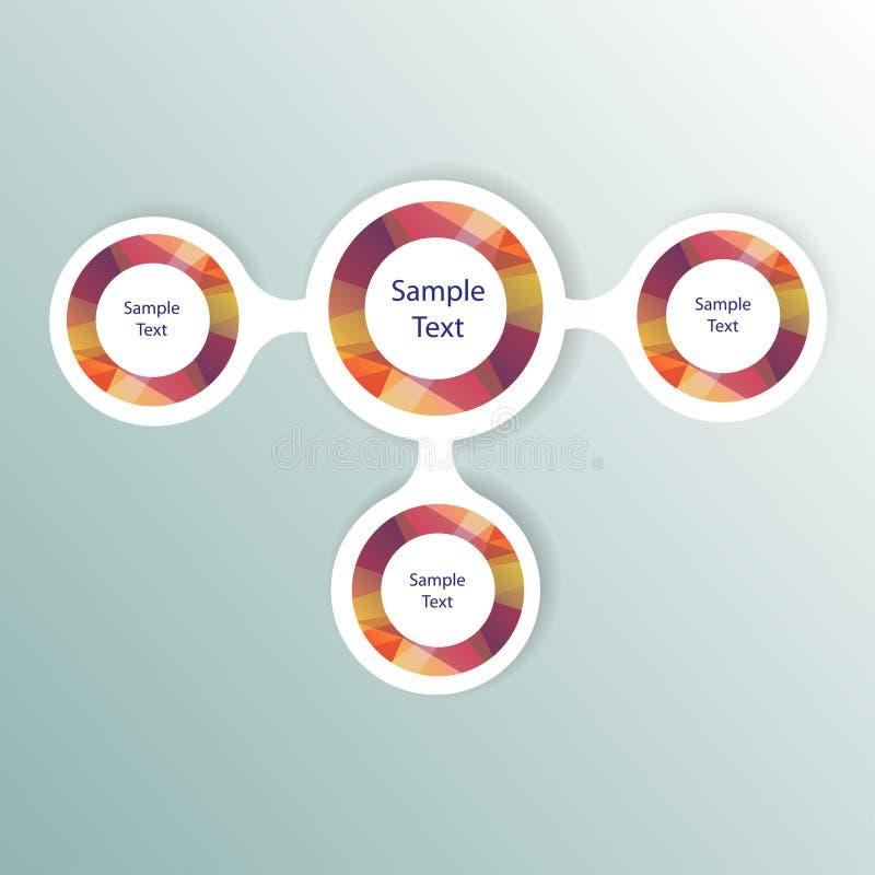 Kleurrijke ronde diagram metaball infographics royalty-vrije illustratie