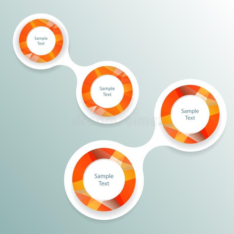 Kleurrijke ronde infographics van het metaballdiagram stock illustratie