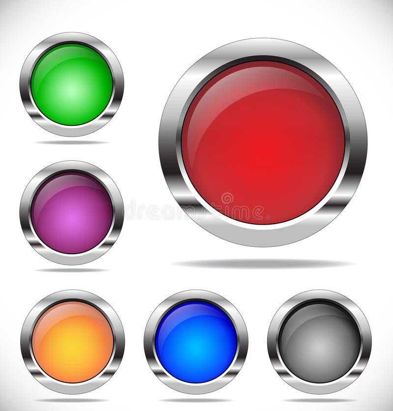 Kleurrijke ronde knopen royalty-vrije illustratie