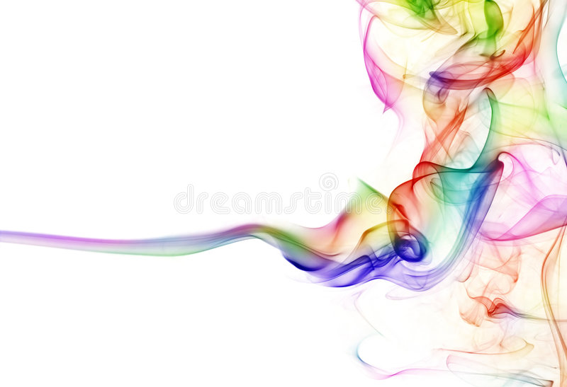 Kleurrijke rook stock afbeelding