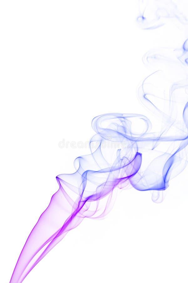 Kleurrijke rook op witte achtergrond royalty-vrije stock afbeeldingen