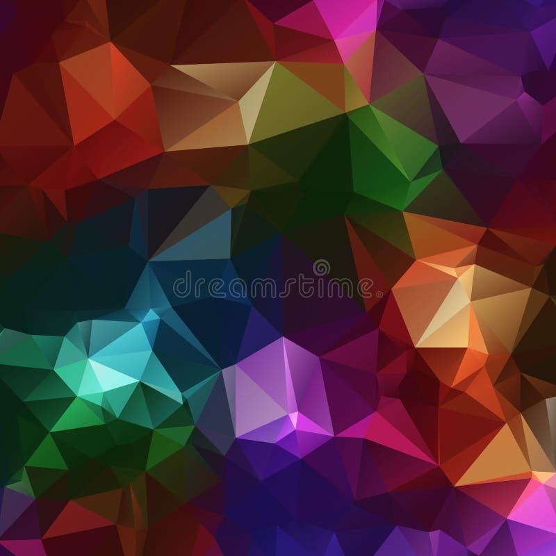 kleurrijke rotsen, de driehoekige veelhoekige achtergrond van diamantenjuwelen stock illustratie