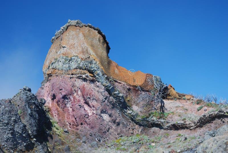 Kleurrijke rotsvormingen royalty-vrije stock foto
