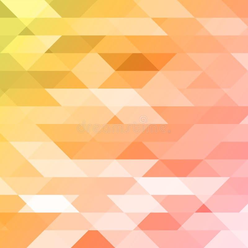 Kleurrijke roze, oranje, groene veelhoekige achtergrond Driehoekige veelhoeken in origamistijl met gradiënt geometrisch vector illustratie