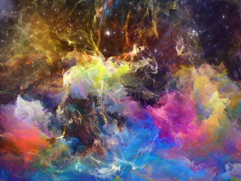 Kleurrijke ruimtenevel royalty-vrije illustratie