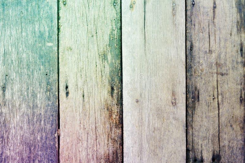 Kleurrijke ruwe houten textuurachtergrond stock foto's