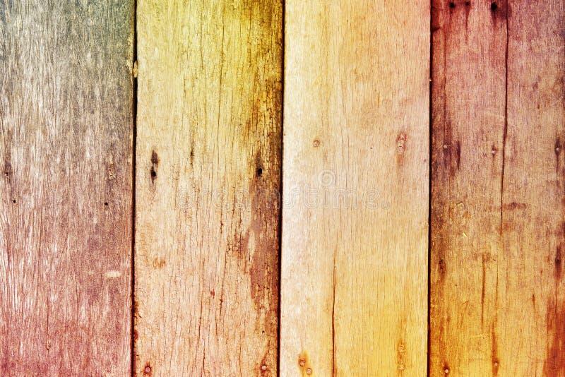 Kleurrijke ruwe houten textuurachtergrond stock afbeeldingen