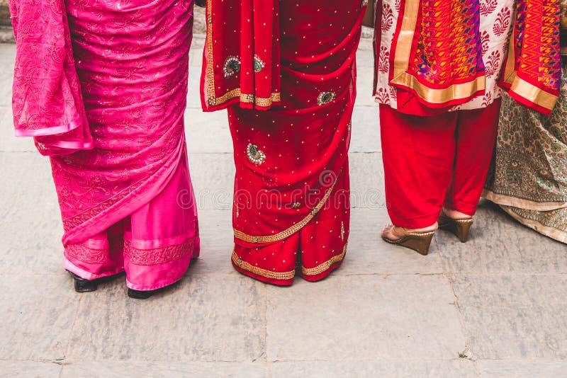 Kleurrijke Saris stock foto's