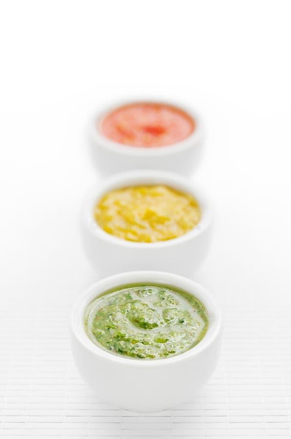 Kleurrijke sausen stock foto