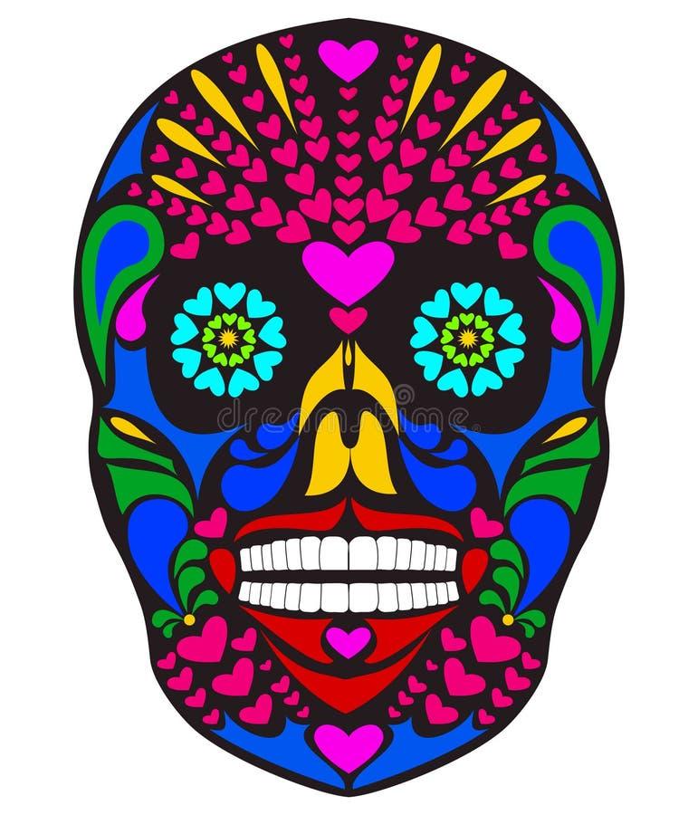 Kleurrijke schedel royalty-vrije illustratie