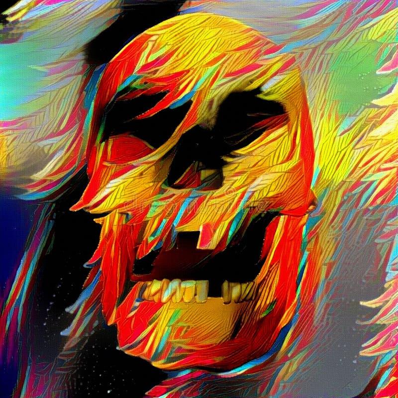 Kleurrijke schedel vector illustratie