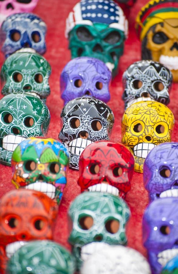 Kleurrijke schedels royalty-vrije stock fotografie