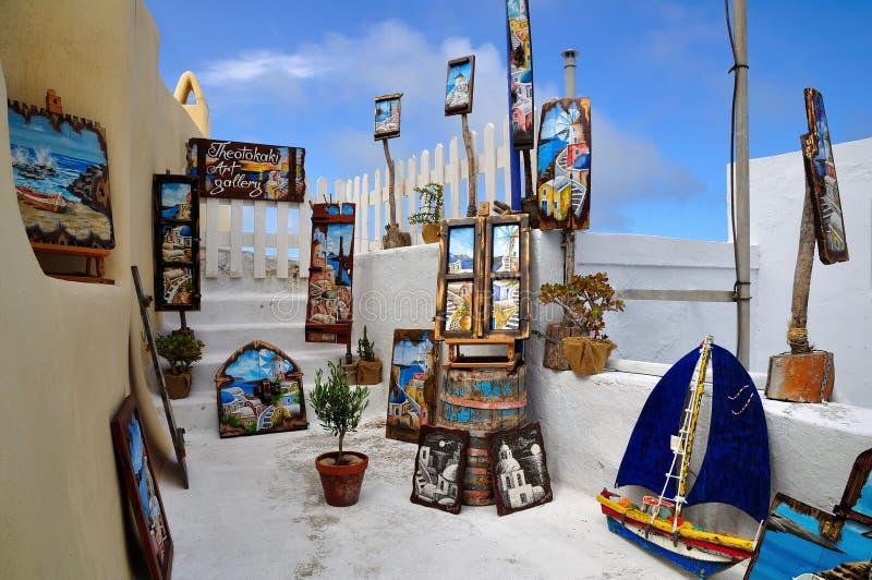 Kleurrijke schilderijen voor verkoop royalty-vrije stock afbeeldingen