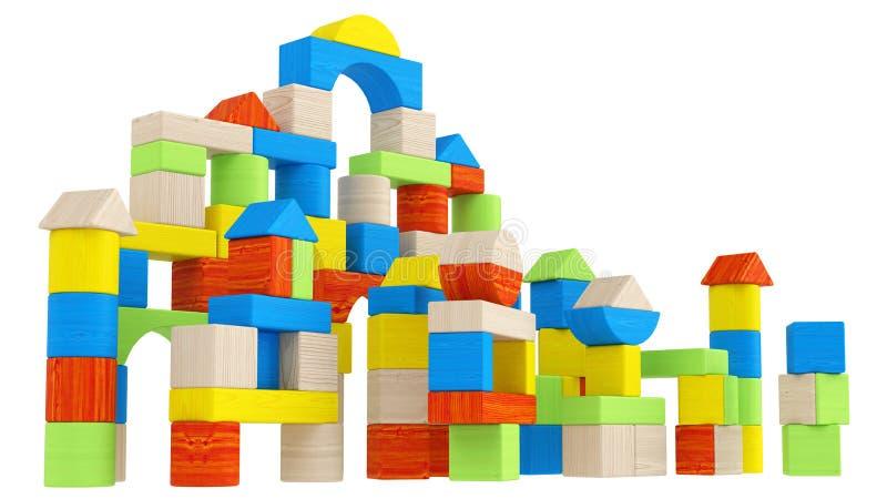 Kleurrijke serie van verschillende bouwstenen vector illustratie