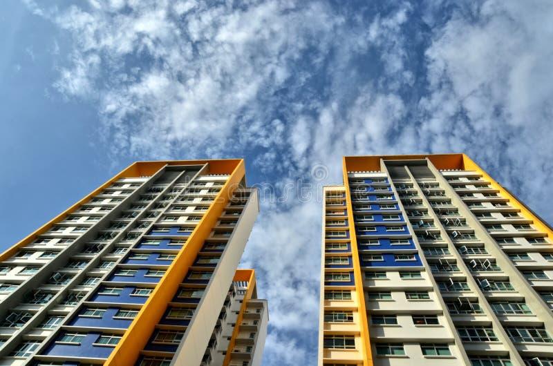 Kleurrijke Skyscrappers stock foto's