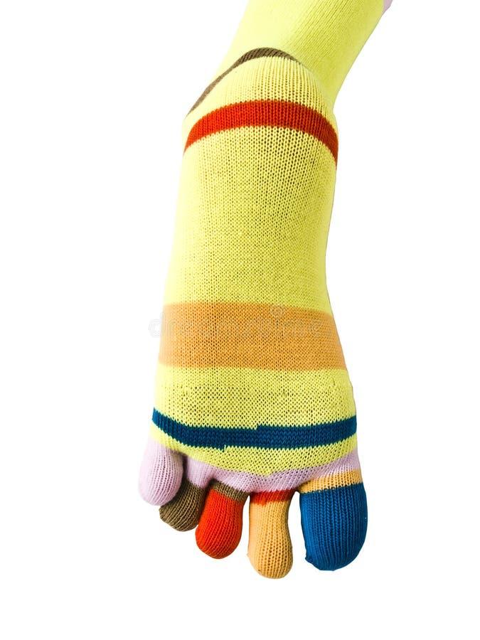 Kleurrijke sokken stock foto