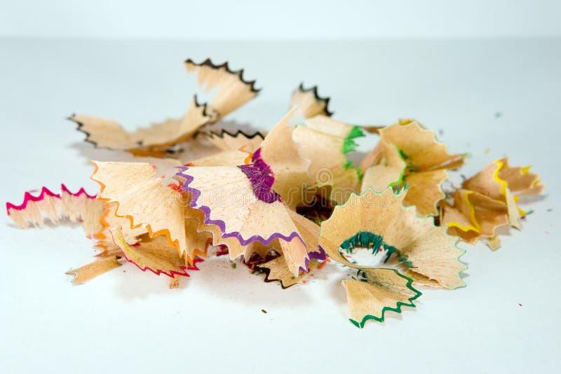 Kleurrijke spaanders stock afbeeldingen