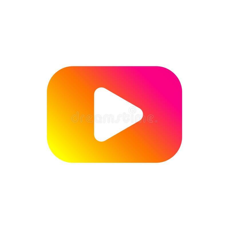 Kleurrijke spelknoop Vlak gradiëntpictogram Geïsoleerd teken voor Web Vector stock illustratie