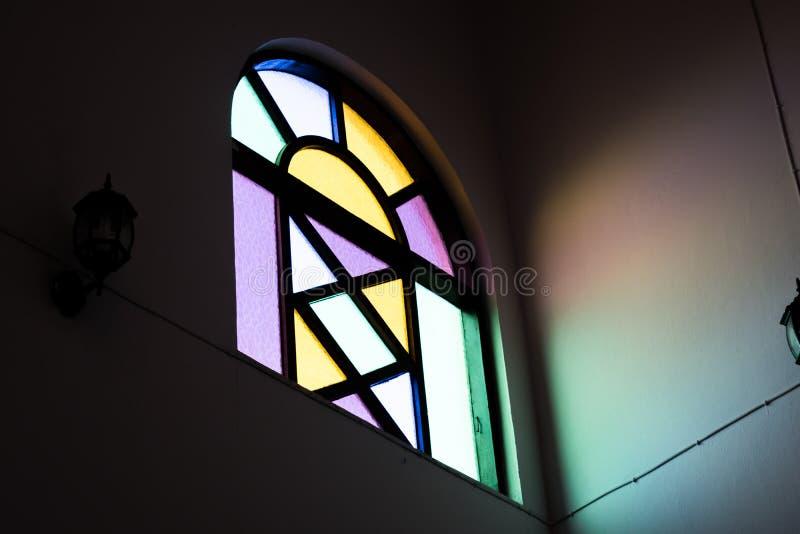 Kleurrijke spiegel van venster royalty-vrije stock foto