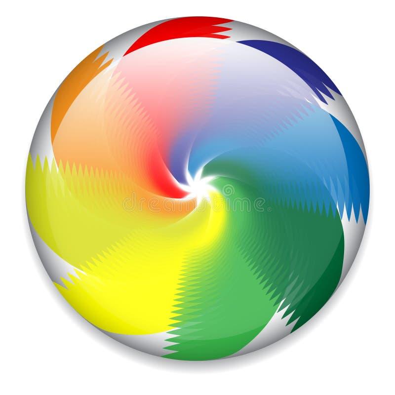 Kleurrijke spinnende knoop vector illustratie