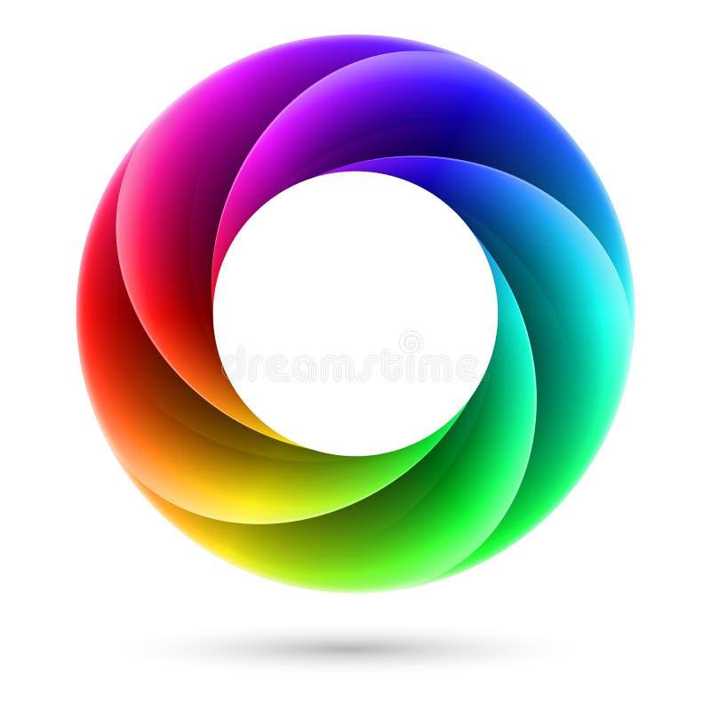 Kleurrijke spiraalvormige ring royalty-vrije illustratie