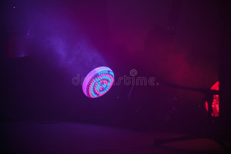 Kleurrijke stadium LEIDEN vleklicht stock foto