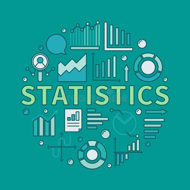 Kleurrijke statistieken om illustratie royalty-vrije illustratie