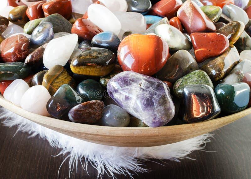 Kleurrijke stenen stock afbeeldingen