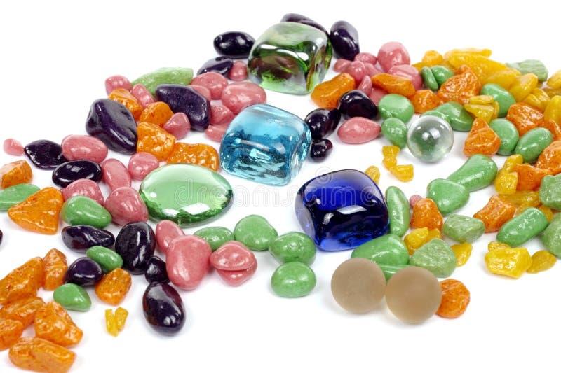 Kleurrijke stenen stock foto's