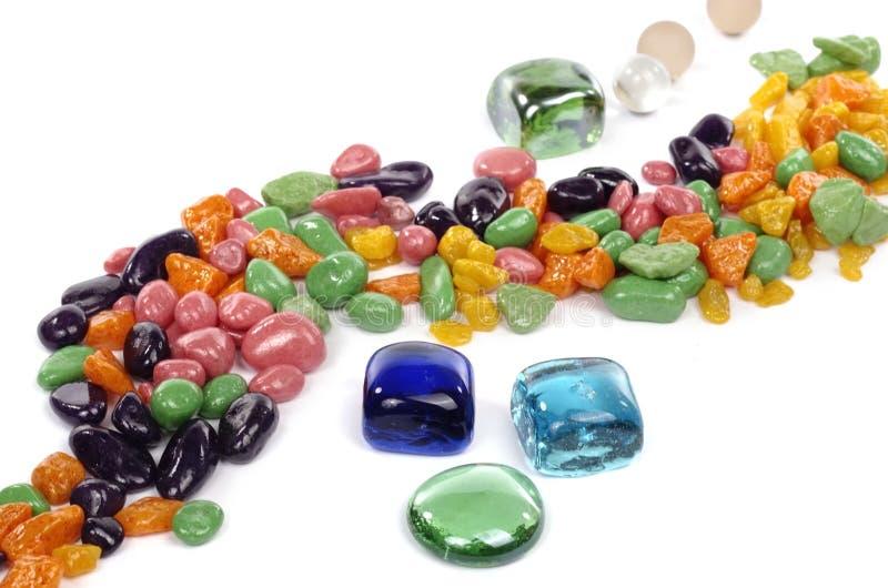 Kleurrijke stenen royalty-vrije stock afbeelding