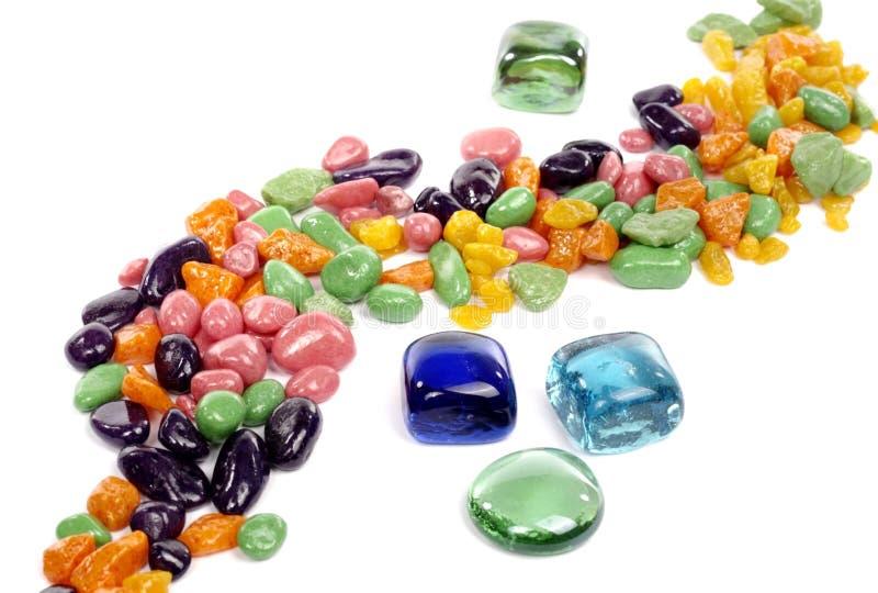 Kleurrijke stenen stock afbeelding