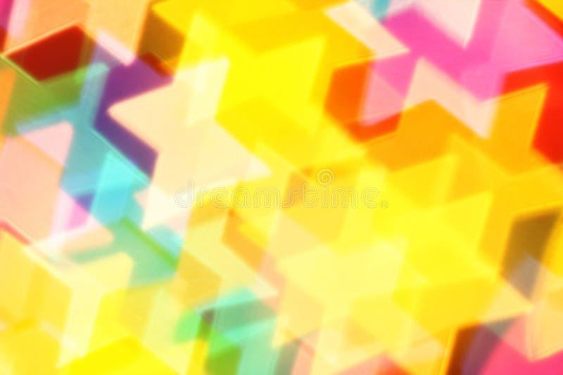 Kleurrijke sterren stock fotografie