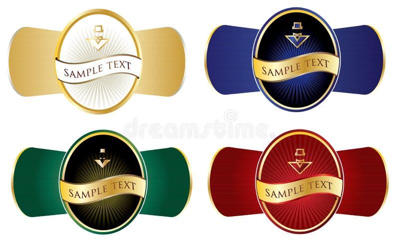 Kleurrijke stickerreeks royalty-vrije illustratie