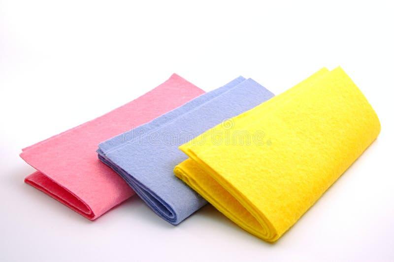 Kleurrijke stofdoeken stock foto