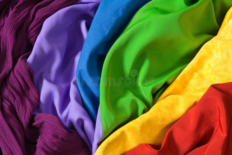Kleurrijke stoffen stock afbeeldingen