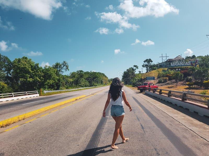 Kleurrijke straat in Sayulita Nayarit royalty-vrije stock afbeeldingen
