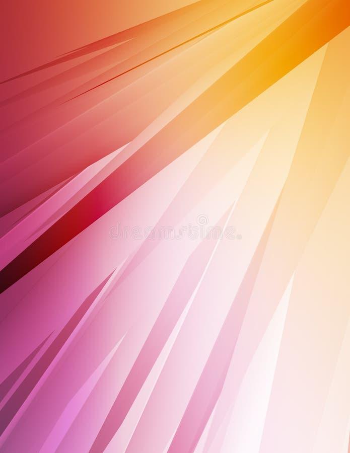 Kleurrijke Stralen 1 vector illustratie